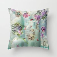 lydia martin Throw Pillows featuring Lydia by Maggie Green