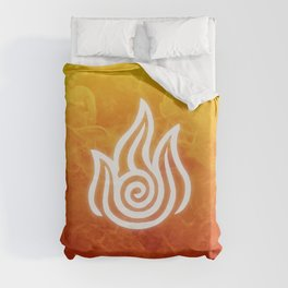 Avatar Fire Bending Element Symbol Duvet Cover