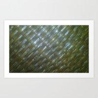 Shiny Weaving Art Print
