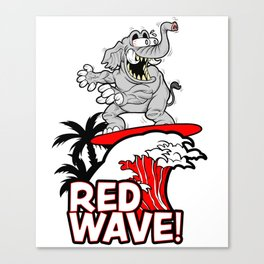 Red Wave Design for Conservative Republican 2018 Voters Canvas Print