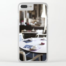 The Hotel Cafe in France Clear iPhone Case