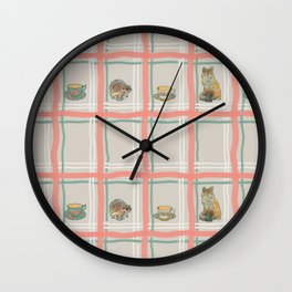The Fox and The Hedgehog #1 Wall Clock