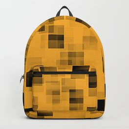 Yellow and black squares abstract art Backpack