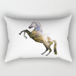 Forest Horse Rectangular Pillow