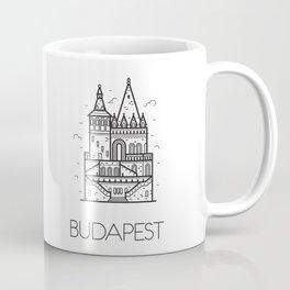 Budapest Hungary Black and White Coffee Mug