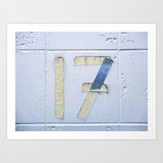 Number 17 Art Print