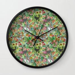 Garden Cats Wall Clock