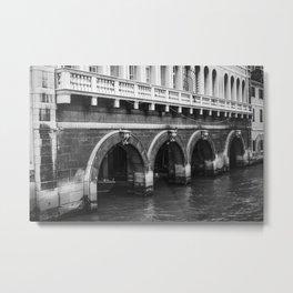 Venetian Taxi Depot Metal Print