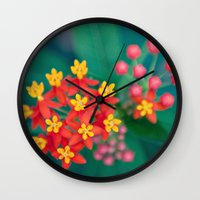 fireworks Wall Clocks featuring fireworks by shannonblue