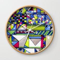 Neon Textures Wall Clock