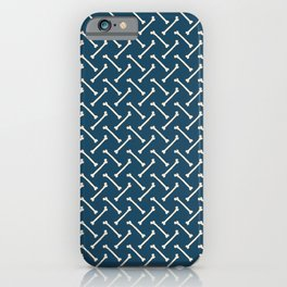 Its Going Tibia Okay - Dem Bones in Blue iPhone Case