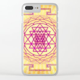 Sri Yantra XII Clear iPhone Case