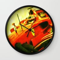 formula 1 Wall Clocks featuring Formula 1 team Ferrari by frenchtoy