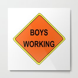 men working - boys Metal Print