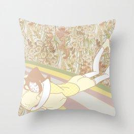 Flower Bed Throw Pillow