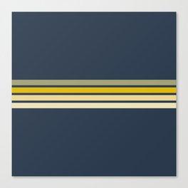 Racing Retro Stripes Canvas Print