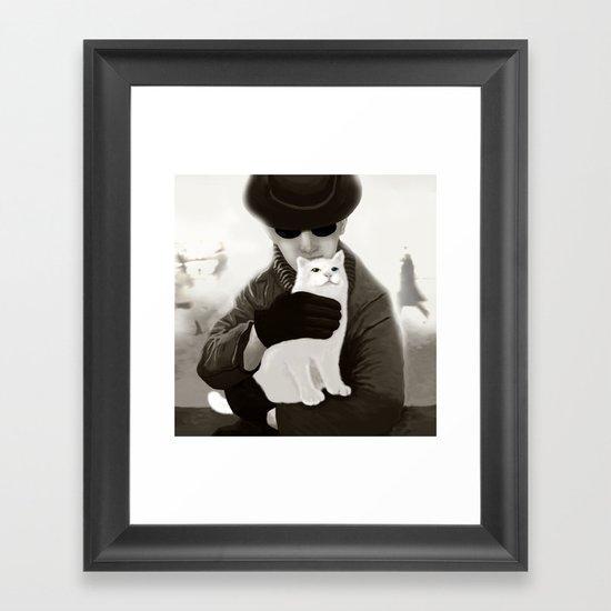 Cat and Alien Framed Art Print