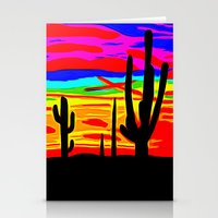 cacti Stationery Cards featuring Cacti by Relic X