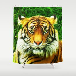 Tiger is Not Amused Shower Curtain