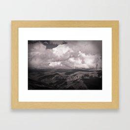leopard mountains Framed Art Print