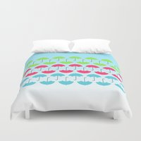 umbrella Duvet Covers featuring Umbrella by hannahclairehughes