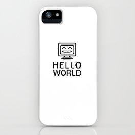 Hello World Computer iPhone Case