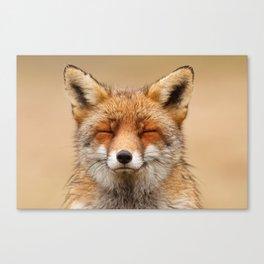 Zen Fox (Red Fox smiling) Canvas Print