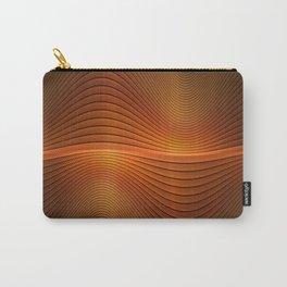 Orange Sine Wave Carry-All Pouch