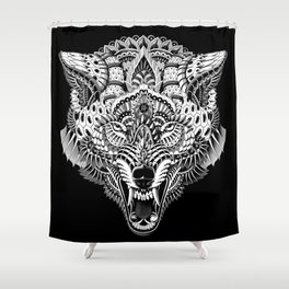 Wolf Head Shower Curtain