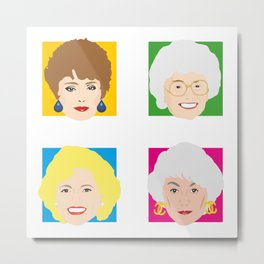 The Golden Girls, Betty White, Bea Arthur, Rue McClanahan, Estelle Getty Metal Print