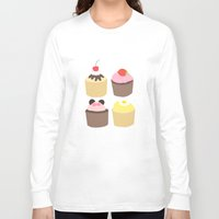 cupcakes Long Sleeve T-shirts featuring CUPCAKES by Sarah and Bree