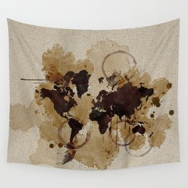 Map Stains Wall Tapestry