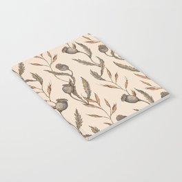 Poppy Pod Pattern Notebook