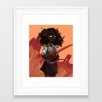 hermione Framed Art Prints featuring Hermione by DellBelle