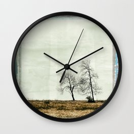 Trees Without Leaves Wall Clock