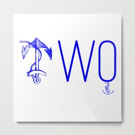 Double Anchor Metal Print