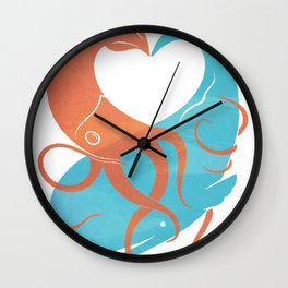 Hug It Out Wall Clock