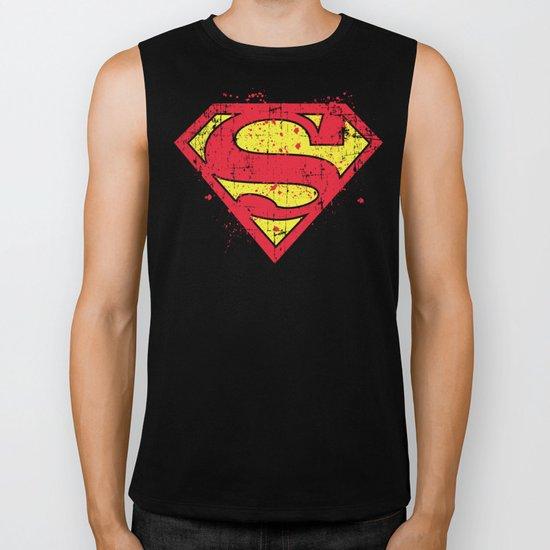 Super Man's Splash Biker Tank