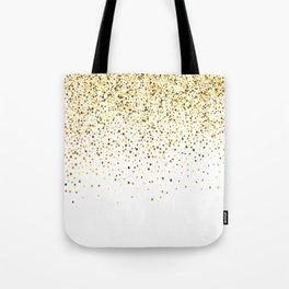 Glam gold glitter confetti design Tote Bag