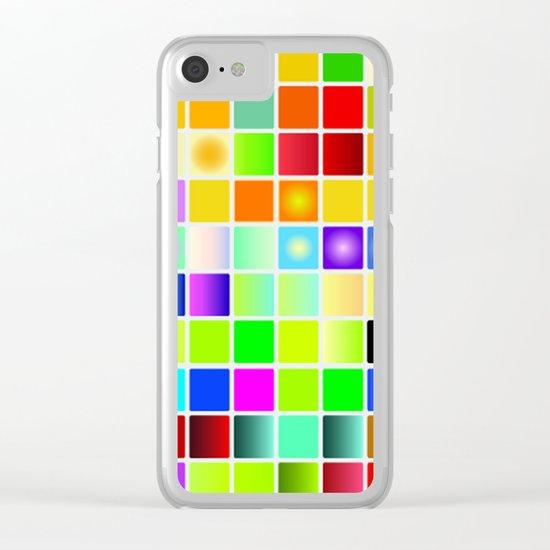 Palette color Clear iPhone Case