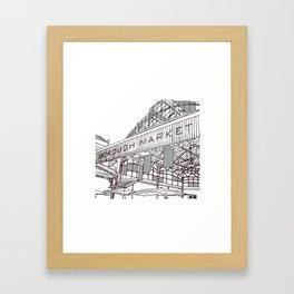 Borough market Framed Art Print
