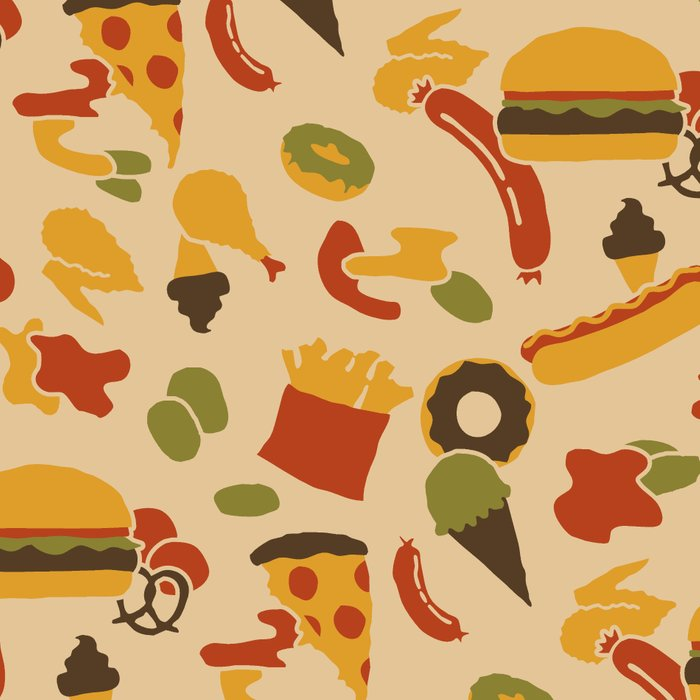 Fast Foodouflage Leggings