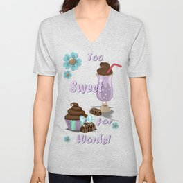 Sweetness Bakery Goods Mixed Media Unisex V-Neck