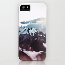 Faded mountain iPhone Case