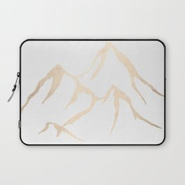 Adventure White Gold Mountains Laptop Sleeve