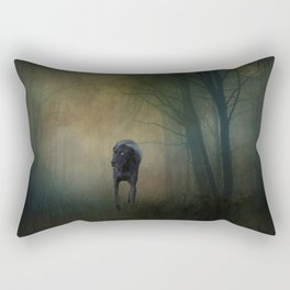 The Hound In The Woods Rectangular Pillow