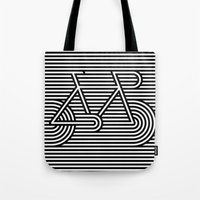 bicycle Tote Bags featuring Bicycle by AndISky