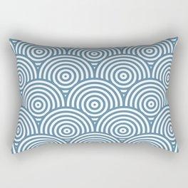 Scales - Blue & White #453 Rectangular Pillow