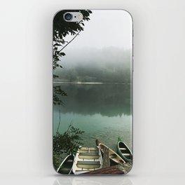 Misty lake iPhone Skin