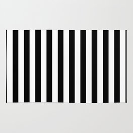 Vertical Stripes (Black/White) Rug